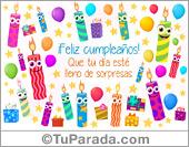 Tarjeta - Tarjeta con divertidas velas de cumpleaños