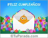 Cumpleaños para amigos - Tarjetas postales: Tarjeta de cumpleaños con caramelos