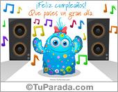 Cumpleaños para amigos - Tarjetas postales: Tarjeta bailada de cumpleaños
