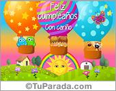Tarjeta - Cumpleaños con globos aerostáticos