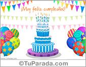 Tarjetas postales: Torta especial de cumpleaños