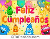 Tarjeta - Ecard de muy feliz cumpleaños