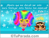 Tarjetas postales: Tarjeta pop mujer de cumpleaños