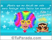 Tarjeta - Tarjeta pop mujer de cumpleaños