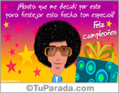 Tarjetas postales: Tarjeta pop varón de cumpleaños