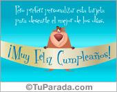 Tarjetas, postales: Feliz cumpleaños para amigos