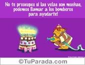 Cumpleaños con humor - Tarjetas postales: Llamemos a los bomberos...