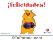 Tarjetas postales: Felicidades