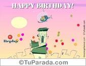 Tarjetas postales: Globos de cumpleaños
