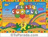 Cumpleaños para niños - Tarjetas postales: Feliz Cumpleaños