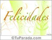 Tarjeta - Felicidades con detalles de hojas