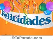 Tarjeta - Felicidades con globos