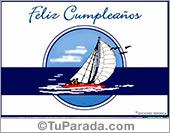 Tarjeta - Cumpleaños marino