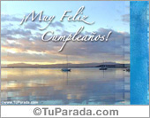 Tarjeta - Muy feliz cumpleaños con amanecer