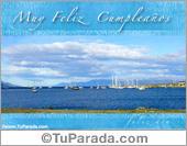 Cumpleaños para hombres - Tarjetas postales: Muchas felicidades con foto de barcos