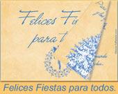 Tarjeta - Felices Fiestas para todos.