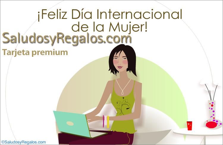 Tarjeta - Día Internacional de la Mujer