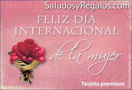 Tarjeta - Feliz Día internacional de la mujer.