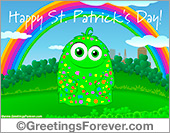St. Patricks Day ecard with rainbow