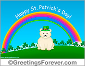 Ecards: St. Patrick´s Day ecard with little bear