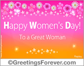 Ecards: Womens day greeting card