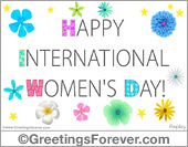 Ecards: International womens day e-card