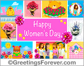 Womens day ecard with images