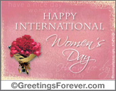 Women's Day - Greeting ecards: Womens day with flowers
