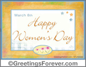 Greeting ecards: International Women´s day