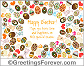 Ecards: Ecard with many Easter eggs