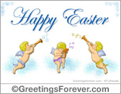 Easter egreeting with angels