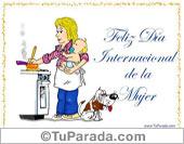 Tarjetas postales: Feliz día para una super mujer