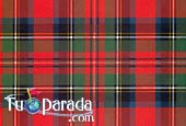 Greeting ecards: Red Scottish pattern
