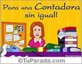 Tarjetas, postales: Tarjeta para una Contadora