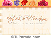 Tarjeta - Tarjeta del día de la secretaria