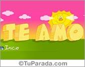 Tarjetas postales: Te amo con sol