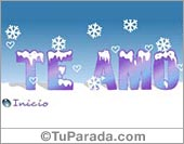 Tarjetas postales: Te amo en invierno
