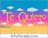Tarjetas postales: Te quiero con nubes y colores