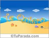 Tarjetas postales: Te quiero en el mar