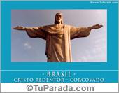 Tarjeta - Foto del Cristo Redentor - Brasil