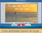 Tarjetas postales: Una amistad como la tuya...