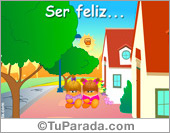 Amistad - Tarjetas postales: Ser feliz...