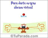 Abrazos y besos - Tarjetas postales: Un gran abrazo virtual