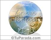 Gracias - Tarjetas postales: Tarjeta de Gracias por todo