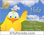 Amistad - Tarjetas postales: Tarjeta de Hola