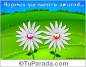 Tarjetas postales: Tarjeta de amistad con flores