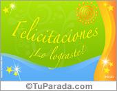 Tarjetas postales: Tarjeta de Felicitaciones, lo lograste