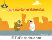 Amistad - Tarjetas postales: Acortar las distancias