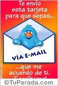 Amistad - Tarjetas postales: Te envío esta tarjeta...
