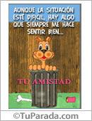 Amistad - Tarjetas postales: Tu amistad con gato en callejón